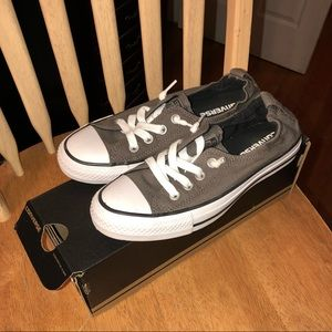Converse Chuck Taylor Gray Slip On Shoes